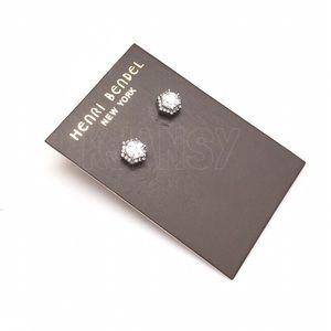 NEW! Henri Bendel Silver Crystal Earrings